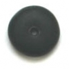 Glass Bead Round Flat 6mm Opaque Black Matt - Strung